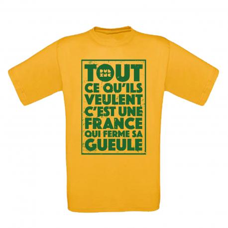"T-Shirt Homme_""TCQV"" Jaune"