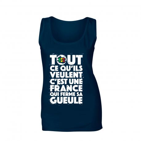 "Débardeur femme_""TCQV"" Rasta"