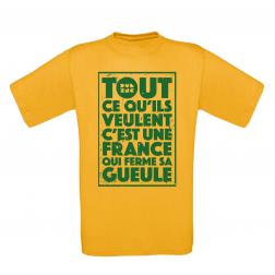 """T-Shirt Men_""""TCQV"""" Yellow"""