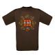 "T-shirt homme_""Typo Rosace camo"" Marron"