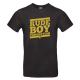 """T-shirt homme_""""Rude Boy Connection"""" Jaune & Noir"""