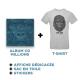 Cd Millions + T-shirt Gris + Goodies