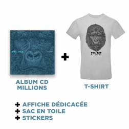 Cd Millions + T-shirt Gris + Goodies