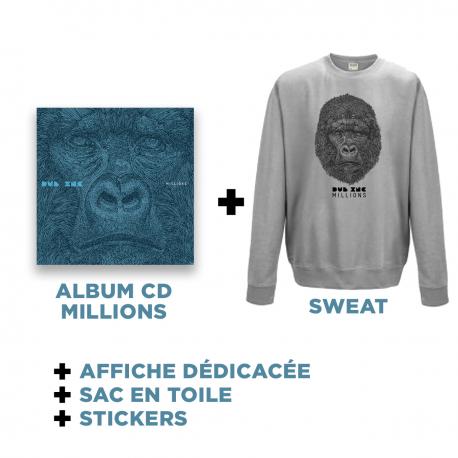Cd Millions + Grey Sweat + Goodies