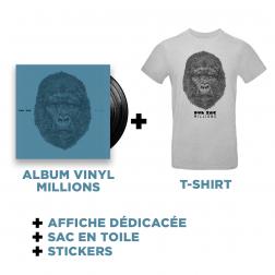 Double Vinyl Millions + T-shirt Gris + Goodies
