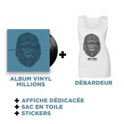 Double Vinyl Millions + White Tank top + Goodies