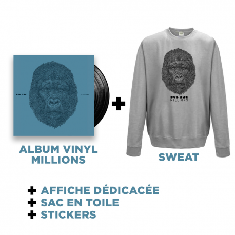 Double Vinyl Millions + Sweat Gris + Goodies