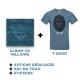 Cd Millions + T-shirt Bleu + Goodies