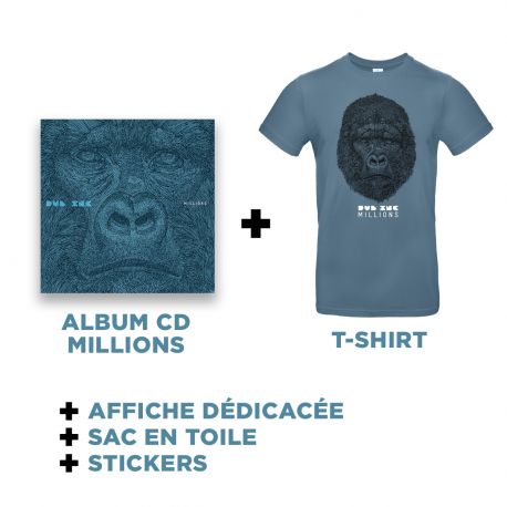 Cd Millions + T-shirt Blue + Goodies