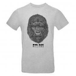 """T-shirt homme_""""Millions"""" Gris"""
