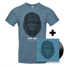 "Double vinyl Millions_+T-Shirt homme ""Millions"" Bleu"