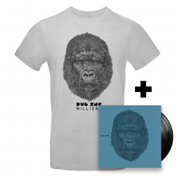 Double vinyl Millions_+T-Shirt homme Millions Gris