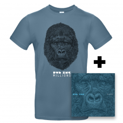 "CD Millions_+T-shirt homme ""Millions"" Bleu"